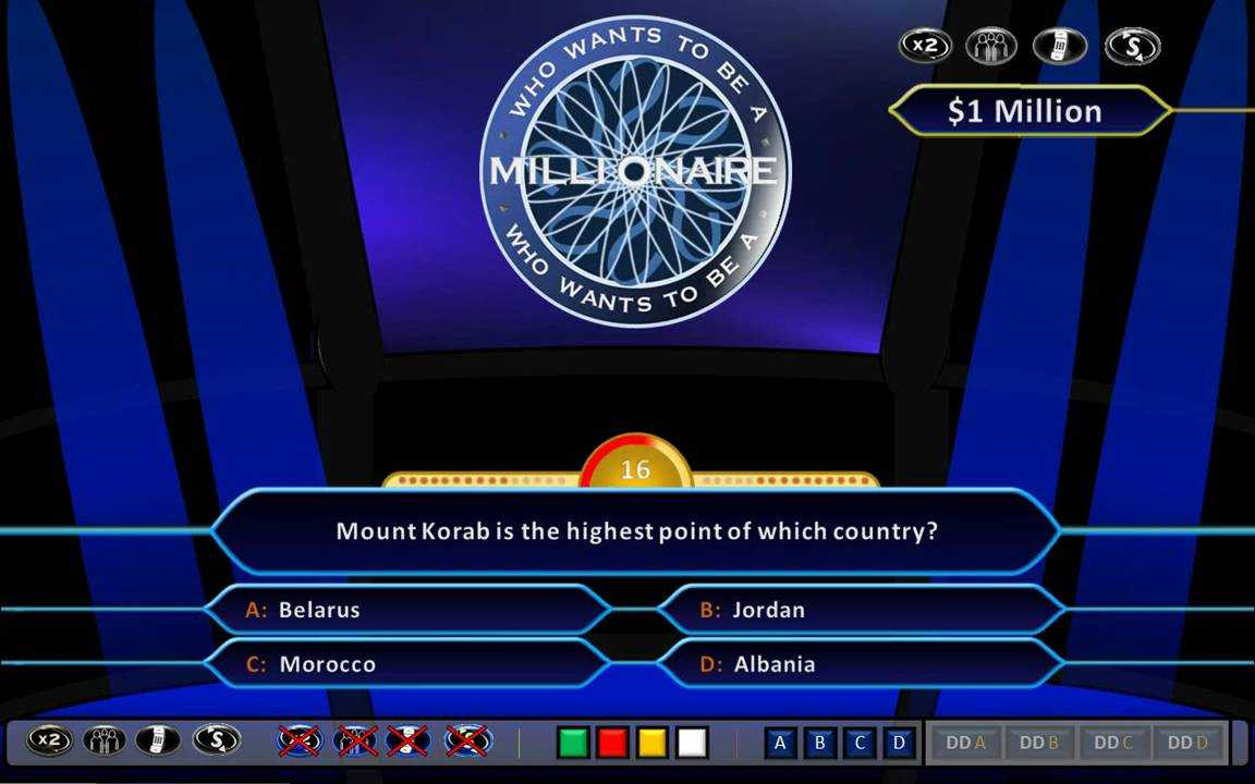Who Wants To Be A Millionaire Demonstration [Hd, Ppt 2010, Us Clock Format] Inside Who Wants To Be A Millionaire Powerpoint Template