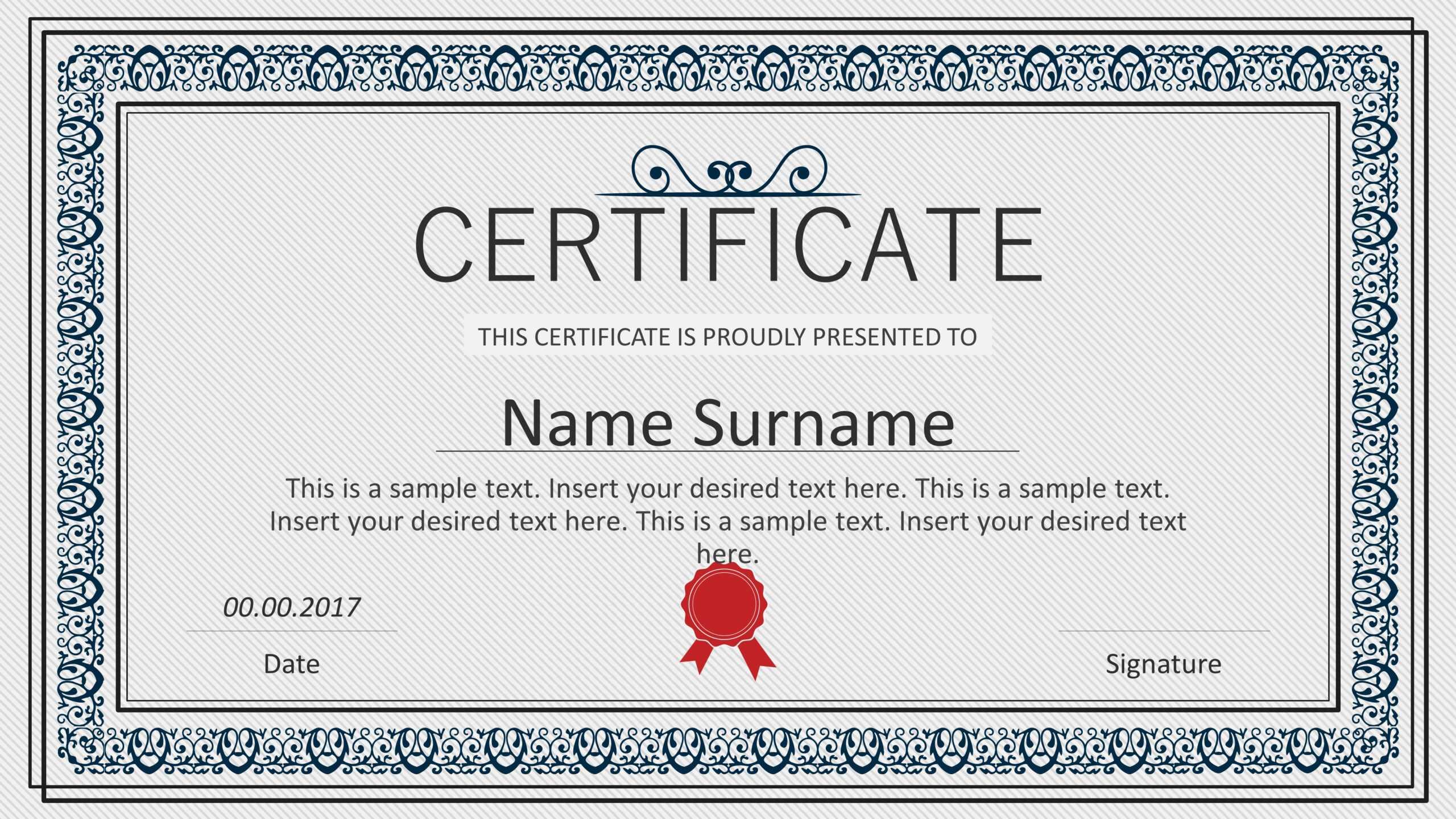 Winner Certificate Powerpoint Templates Inside Winner Certificate Template