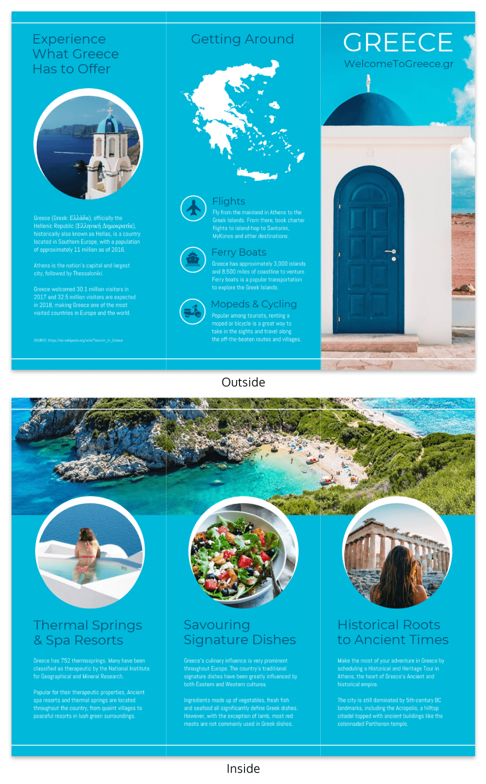 World Travel Tri Fold Brochure With Regard To Island Brochure Template
