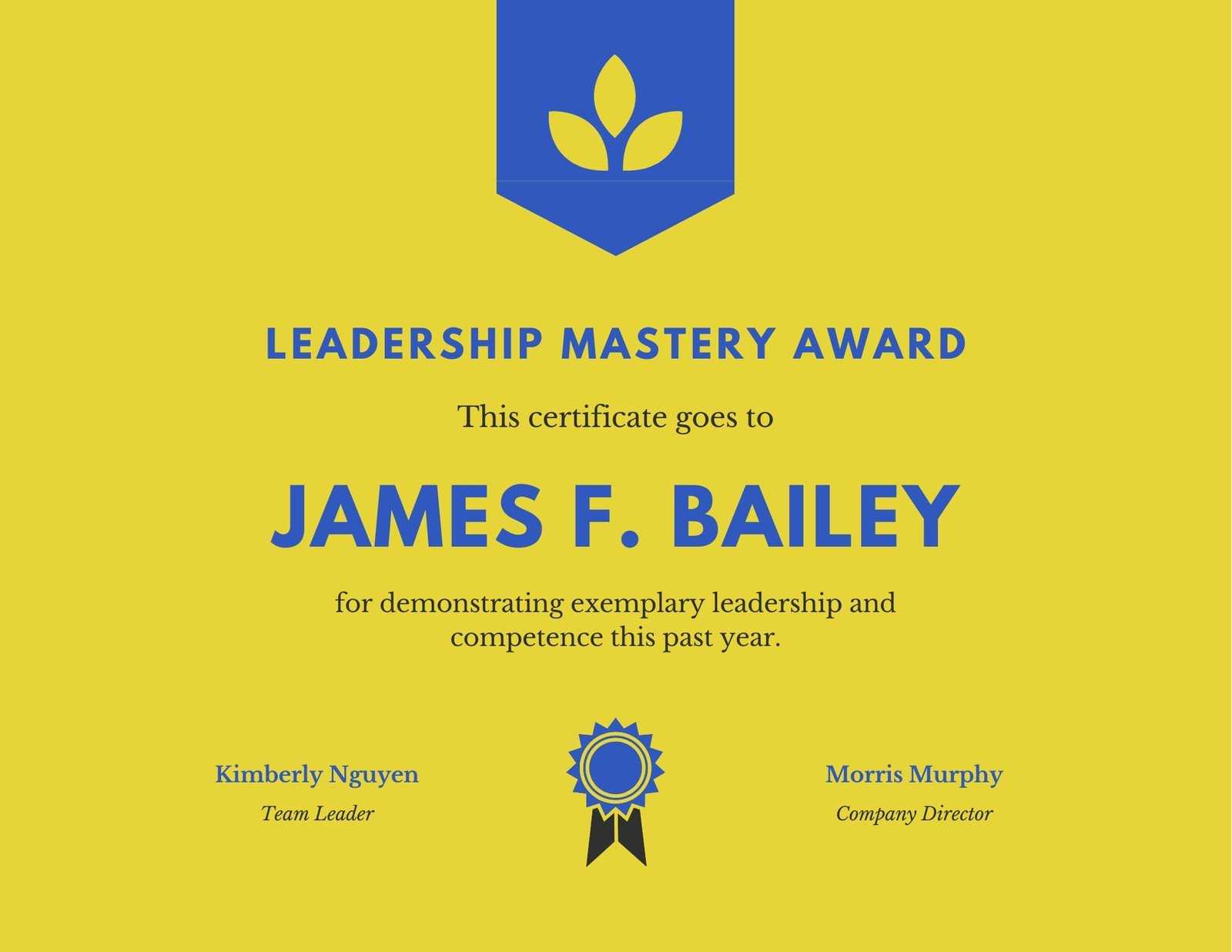 Yellow Leadership Award Certificate – Templatescanva Inside Leadership Award Certificate Template