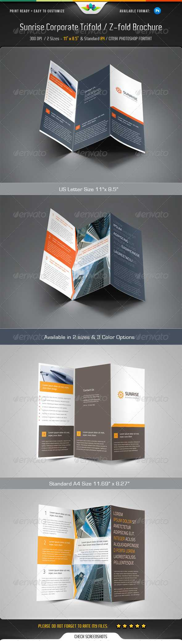 Z Fold Brochure Templates From Graphicriver Pertaining To Z Fold Brochure Template Indesign