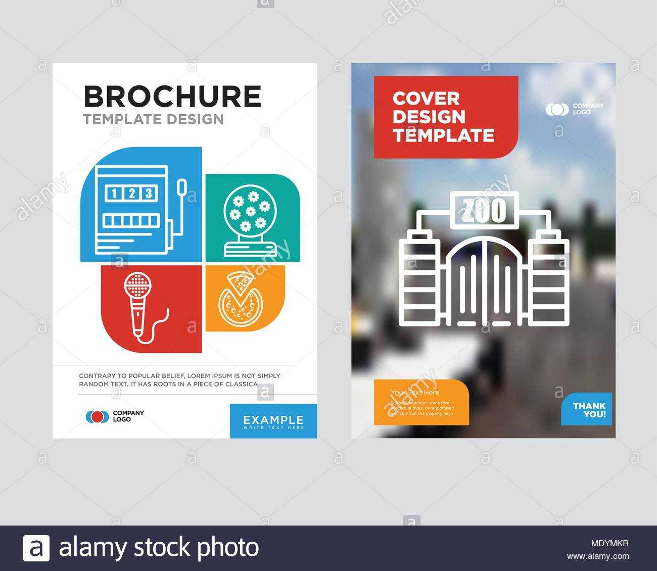 Zoo Brochure Flyer Design Template With Abstract Photo In Zoo Brochure Template